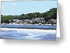 Boathouse Row 2 - Palette Knife Greeting Card