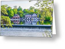 Boathouse Row - Framed In Spring Greeting Card