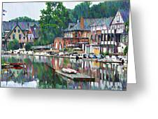 Boathouse Row In Philadelphia Greeting Card