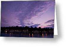 Boathouse Row In Twilight Greeting Card