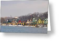 Boathouse Row On A Winter Morning Greeting Card