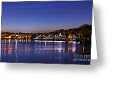 Boathouse Row Philly Greeting Card