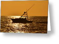 Boating And Fishing Greeting Card