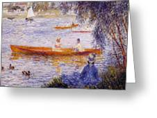 Boating At Argenteuil 1873 Greeting Card