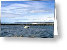 Boating At Bandon Greeting Card