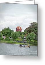 Boating In Thorpeness Greeting Card