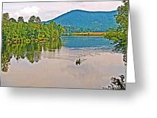 Boating On Connecticut River Between Vermont And New Hampshire Greeting Card