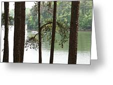 Boating On The Lake Greeting Card