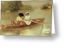 Boating On The Seine Greeting Card