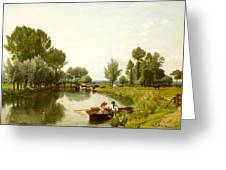 Boating On The Stour Greeting Card