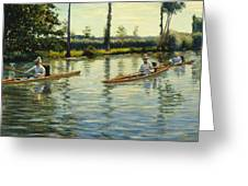 Boating On The Yerres Perissoires Sur Lyerres 1877 Greeting Card