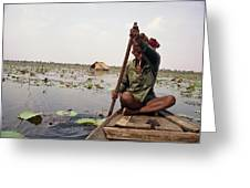 Boatman - Battambang Greeting Card