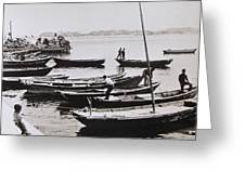 Boatmen Greeting Card