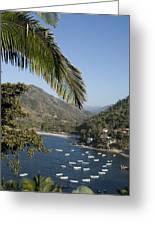 Boats And Beach In Yelpa Greeting Card