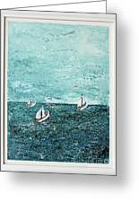 Boats And Birds Greeting Card