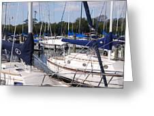 Boats And Boats Greeting Card