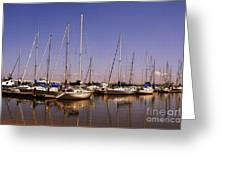 Boats And Reflections Greeting Card