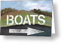 Boats- Art By Linda Woods Greeting Card