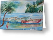 Boats At Casey Key Greeting Card