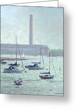Boats At Fawley Hampshire Greeting Card