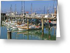 Boats At Fisherman Greeting Card