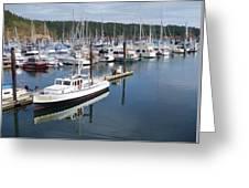 Boats At Friday Harbor Greeting Card