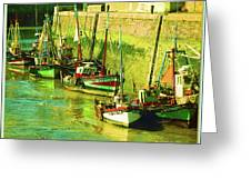 Boats At Honfluer France Greeting Card