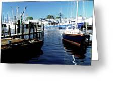 Boats At Orental Greeting Card