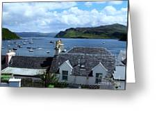 Boats At Portree Greeting Card