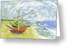 Boats At St. Maries Greeting Card