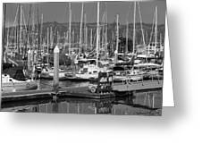 Boats At The Bay Greeting Card