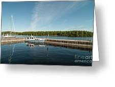 Boats At The Dock Greeting Card