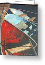 Boats At The Dock Greeting Card