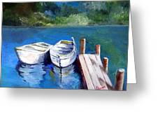 Boats Docked Greeting Card