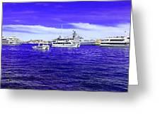 Boats Everywhere 3 Greeting Card