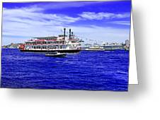 Boats Everywhere During Navy Fleet Review In Sydney Greeting Card