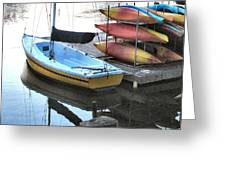 Boats For Rent Greeting Card
