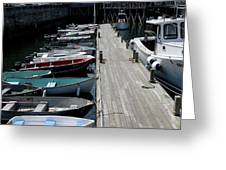 Boats In A Line Greeting Card