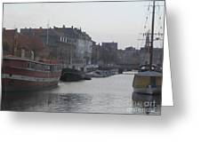 Copenhagen Waterway Greeting Card