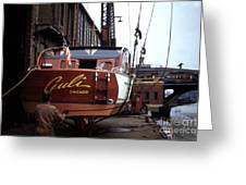 Boats In Harbor - 006 Greeting Card