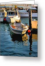 Boats In Morro Bay California Greeting Card
