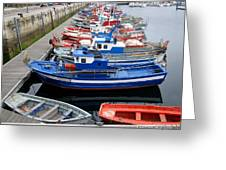 Boats In Norway Greeting Card
