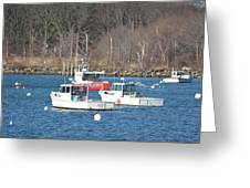 Boats In Rye Harbor Greeting Card
