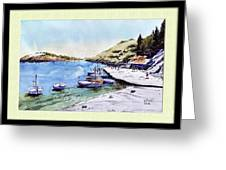 Boats In Spain Greeting Card