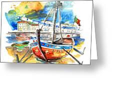 Boats In Tavira In Portugal 02 Greeting Card