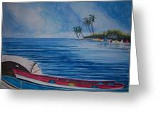 Boats In The Caribbean Greeting Card