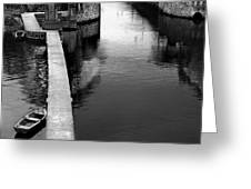 Boats In The Rain Greeting Card