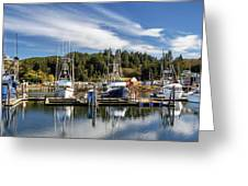 Boats In Winchester Bay Greeting Card