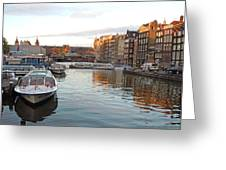 Boats Of Amsterdam Greeting Card