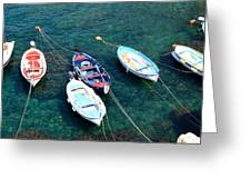 Boats On A Line Greeting Card